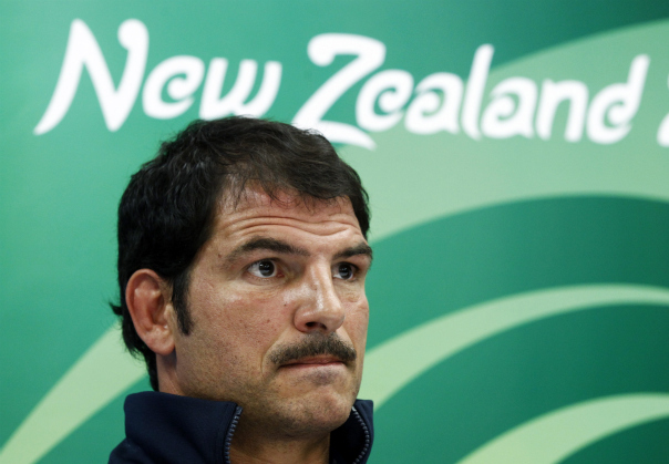 Marc Lièvremont le 7 octobre à Auckland (Jacky Naegelen/Reuters)