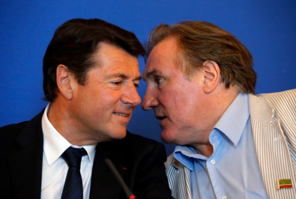 Christian Estrosi et Gérard Depardieu (Reuters/Eric Gaillard)